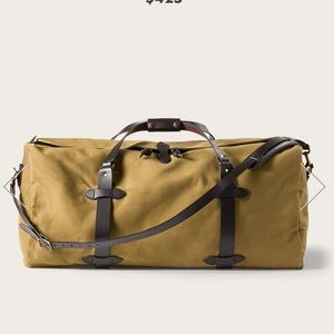 Filson large tan canvas bag